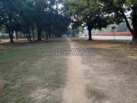 walking on footpath or bridle path