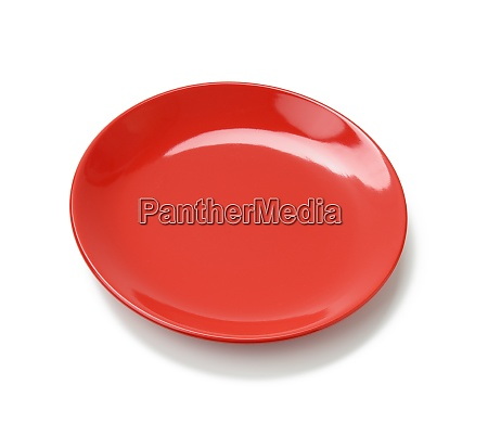 empty round red plate for main