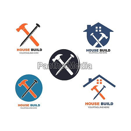 house build and renovation logo icon