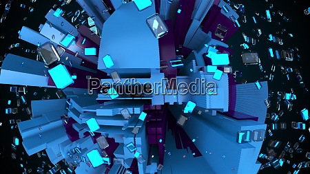 3d render technology background complicated abstract