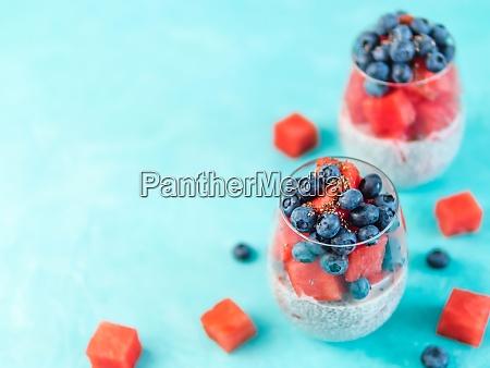 watermelon chia pudding
