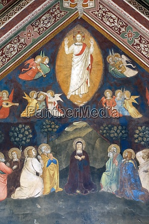 ascension of christ fresco by andrea