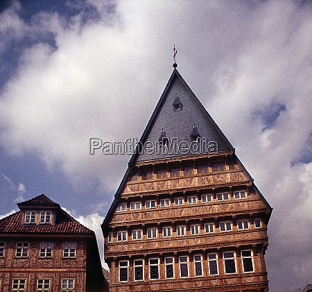 half timbered houses in hildesheim