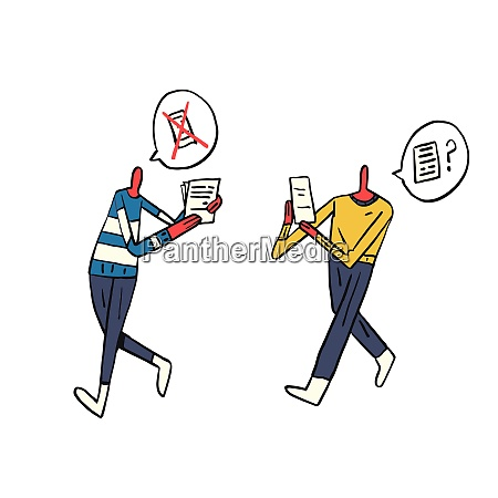 two people walking and communication confirmation