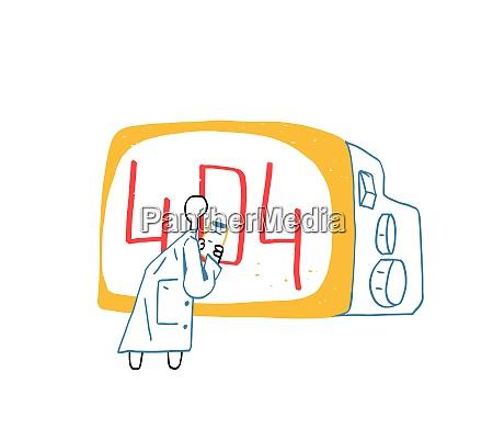scientist watch error 404 in giant