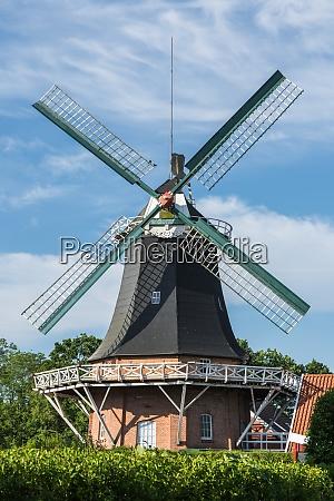 windmill in esens east frisia lower