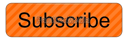 orange subscribe button on white background
