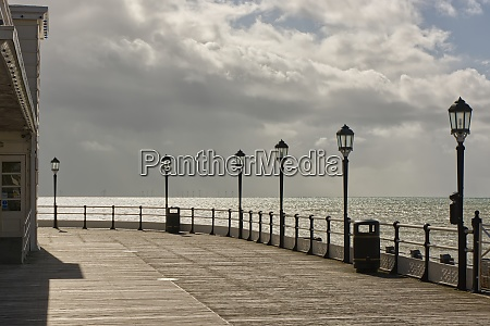 worthing seafront pier sussex england