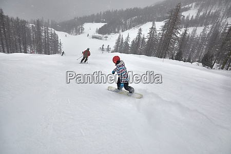 snowboarder on the slope