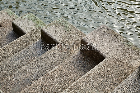 concrete stairs on the quay