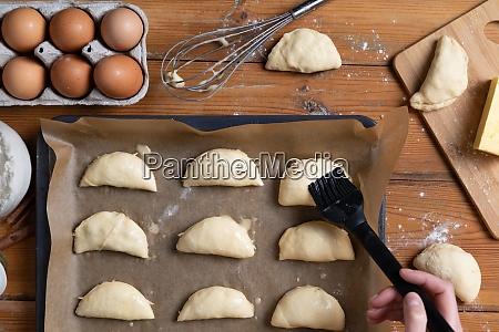 women preparing homemade food pie pizza