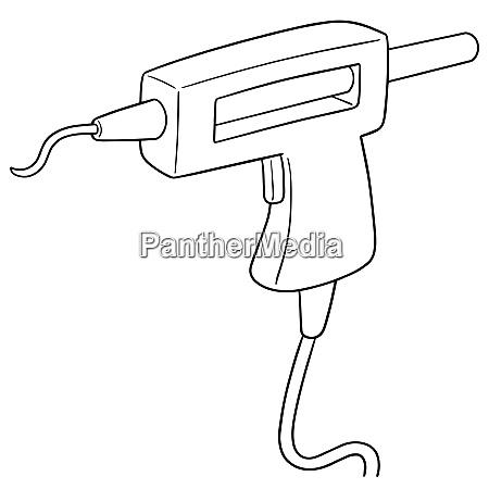 vector of glue gun