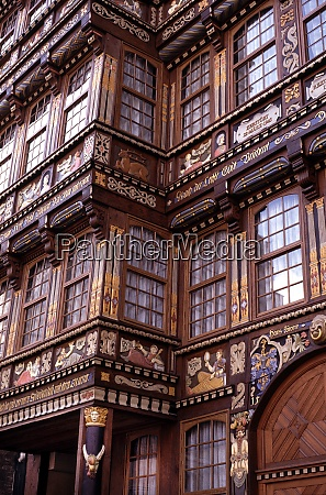 old half timbered house in hildesheim
