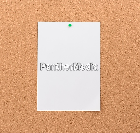 blank white sheet of paper attached
