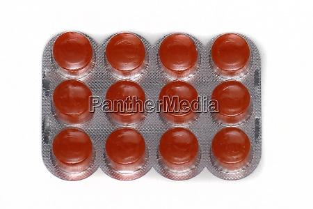 orange pills blister