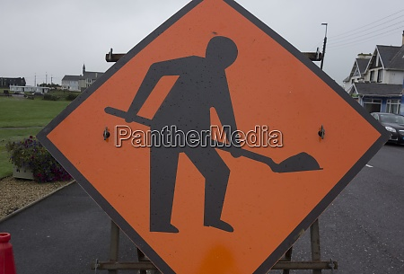 a road works traffic sign