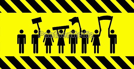 strike or protest banner with