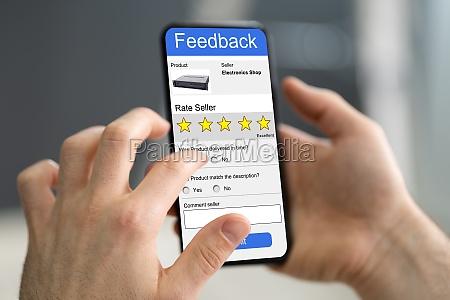 person filling online survey form