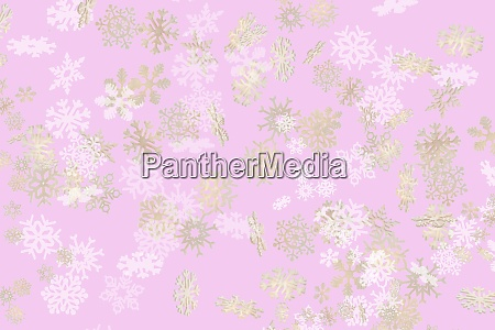 falling snowflakes pattern on pink background