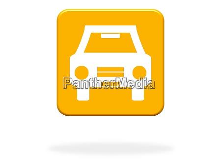 orange button with car icon
