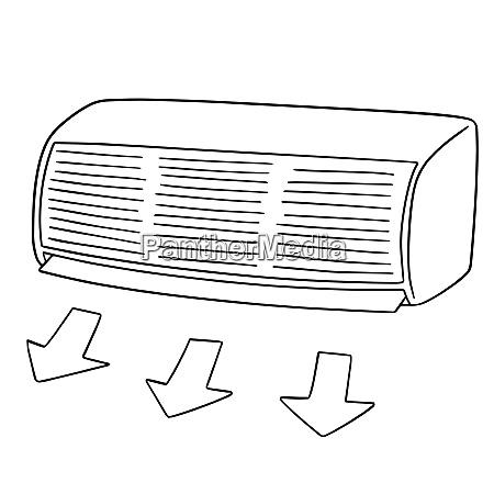 vector of air conditioner