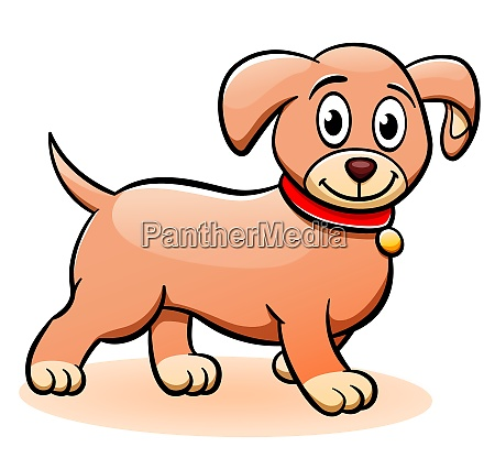 vector puppy cartoon clipart illustration