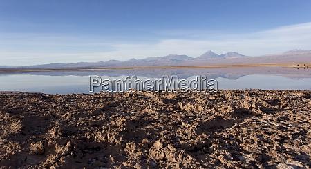 a view of chaxa saltflat at