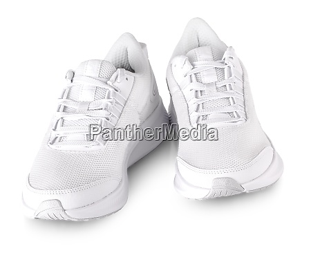 white sneakers on white background including
