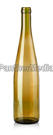 brown empty bottle for wine isolated