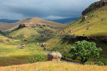 scenic drakensberg mountain landscape