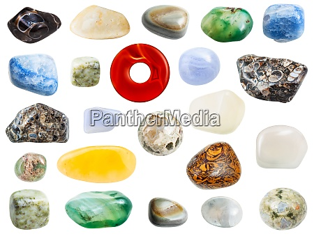 collection of various agate natural gem