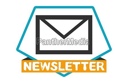 newsletter button blue orange newsletter subscription
