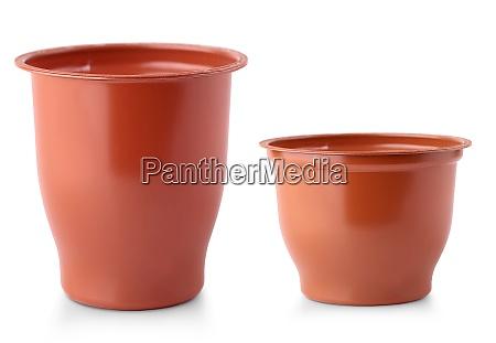 brown mug isolated on white background