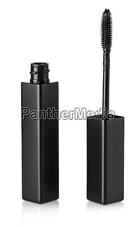 black mascara brush isolated on white