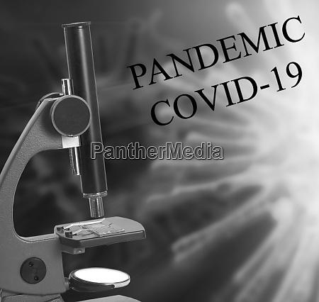 the laboratory microscope and coronavirus