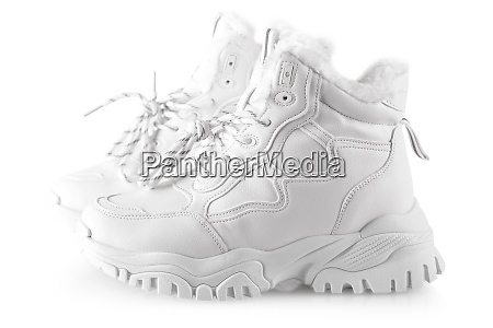 white sneakers for women isolated on