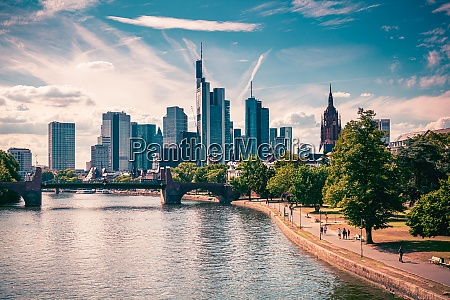 skyline of frankfurt am main germany