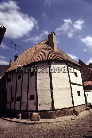 half timbered house in quedlinburg
