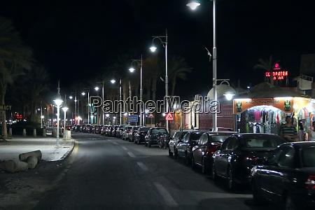 view of night street of hurghada