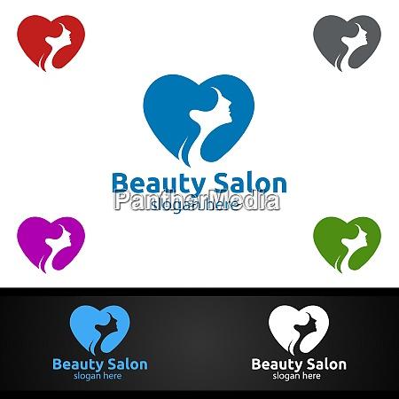 love salon fashion logo for beauty