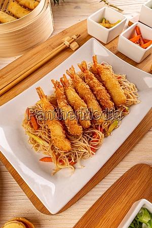 fried breaded shrimps