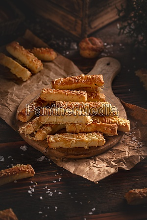 salty cheesy sticks snacks