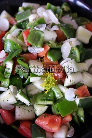 salad on platter various banquet snacks