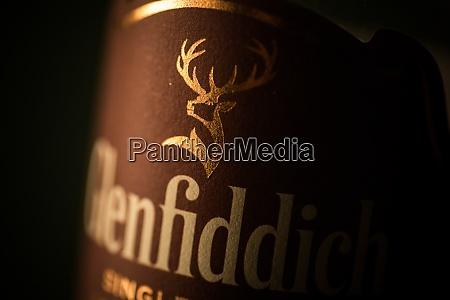 glenfiddich single malt whisky bottle