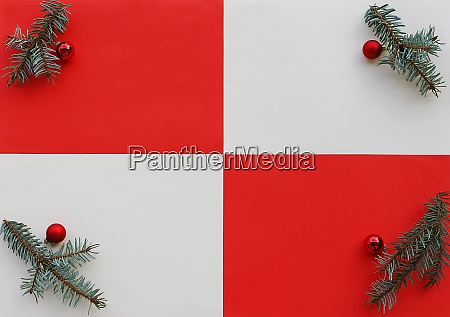 christmas background with fir branches and
