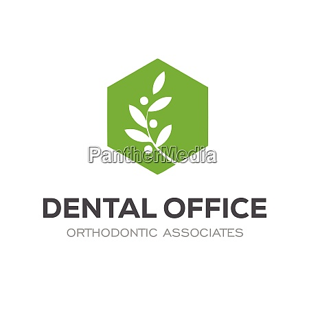 colorful modern dental oral medicine logo