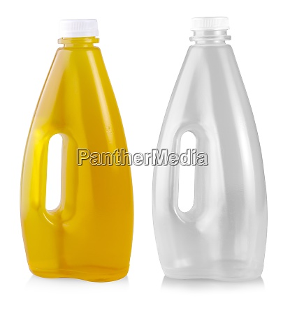 the apple juice in plastic bottle