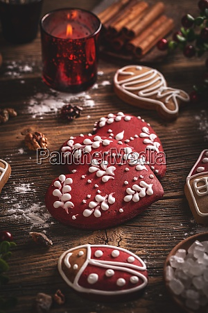 christmas cookies of various shapes