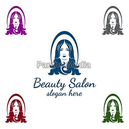 salon fashion logo for beauty hairstylist