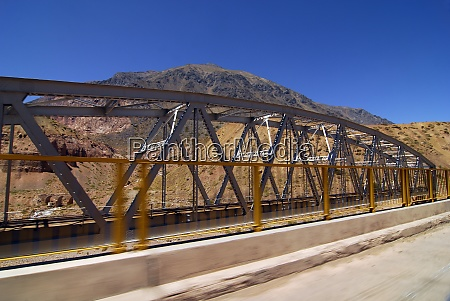 iron bridge in truss construction